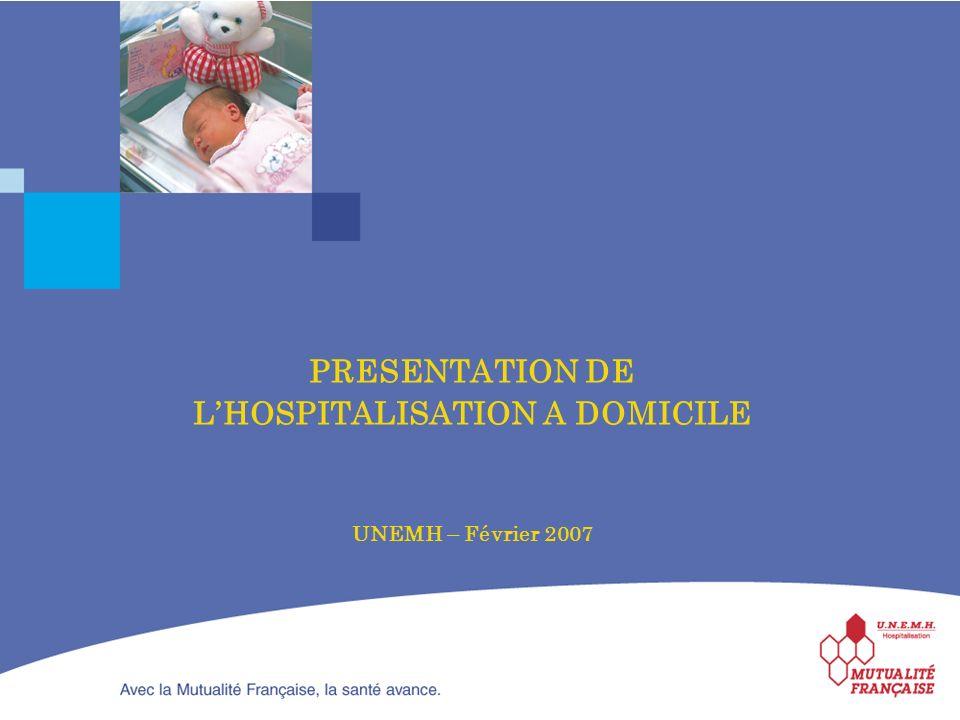 PRESENTATION DE LHOSPITALISATION A DOMICILE UNEMH – Février 2007