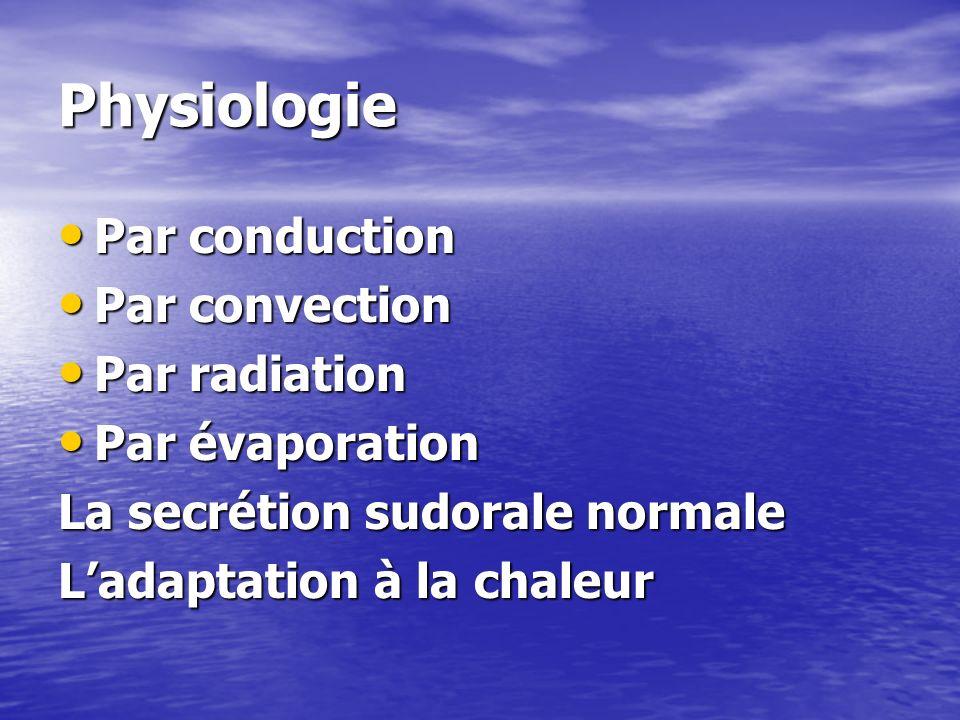 Physiopathologie Le vieillissement et les polypathologies dont souffrent les personnes âgées ont plusieurs impacts sur les capacités de l organisme à s adapter à une vague de chaleur.