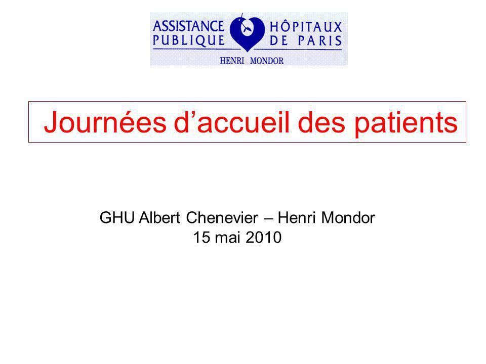 Journées daccueil des patients GHU Albert Chenevier – Henri Mondor 15 mai 2010