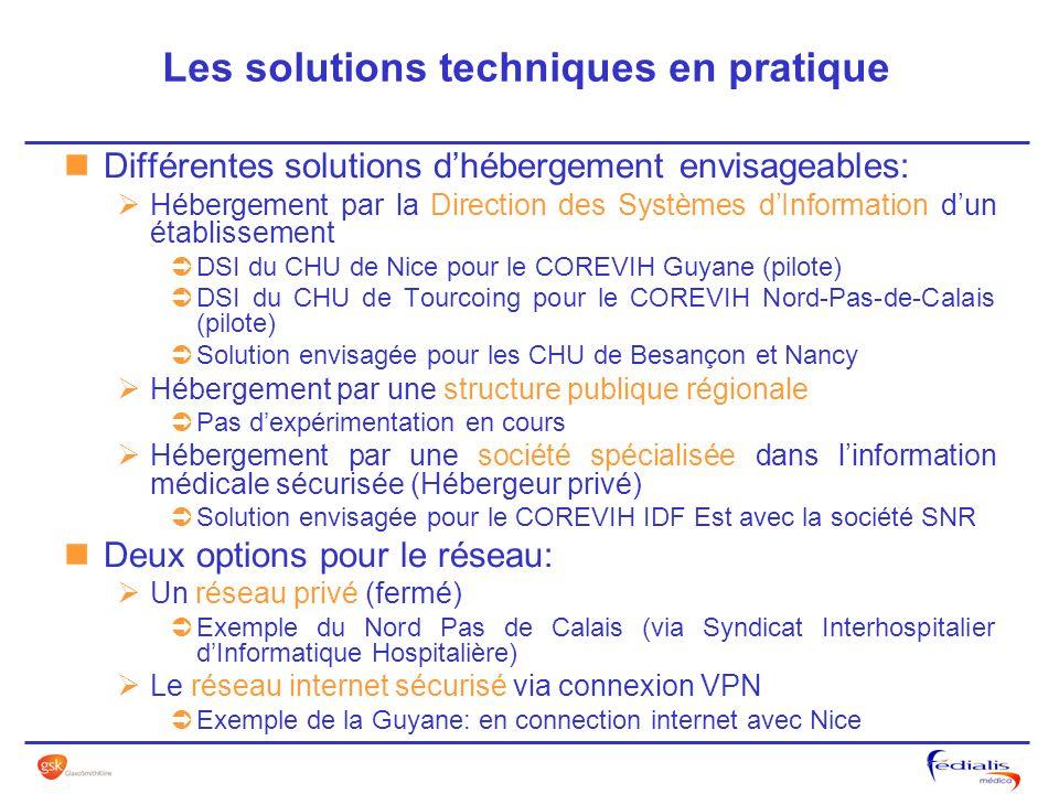 Différentes solutions dhébergement envisageables: Hébergement par la Direction des Systèmes dInformation dun établissement DSI du CHU de Nice pour le