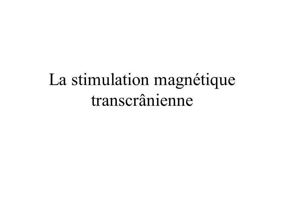 Migraine –SMTr : Chez des sujets sains, il se produit une augmentation du seuil de déclenchement des phosphènes.