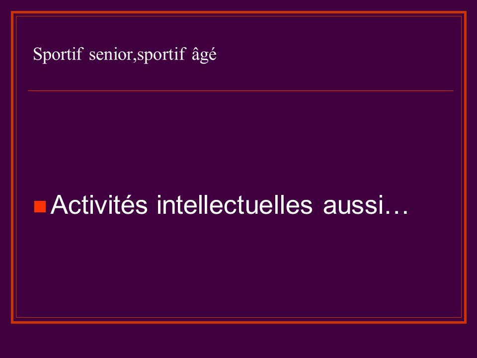 Sportif senior,sportif âgé Pour en savoir plus..