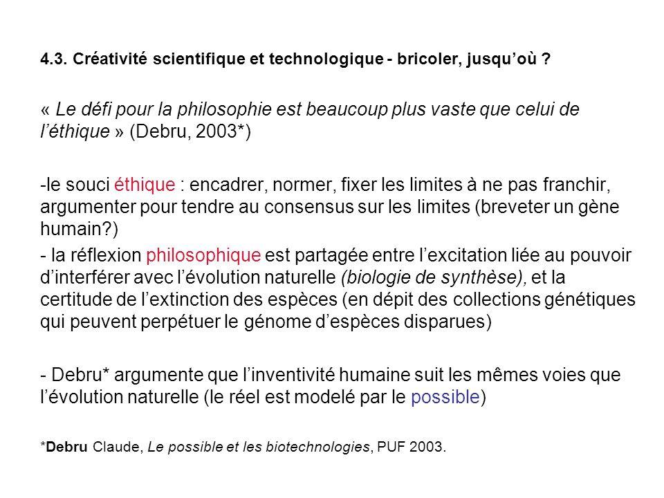 4.3. Créativité scientifique et technologique - bricoler, jusquoù .