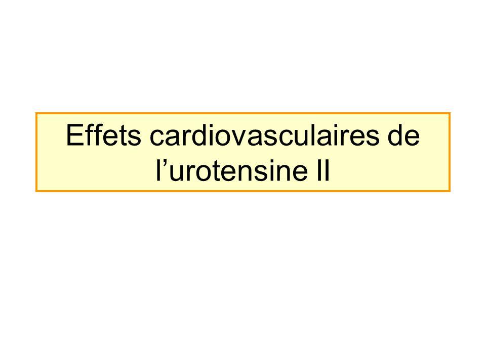 Effets cardiovasculaires de lurotensine II