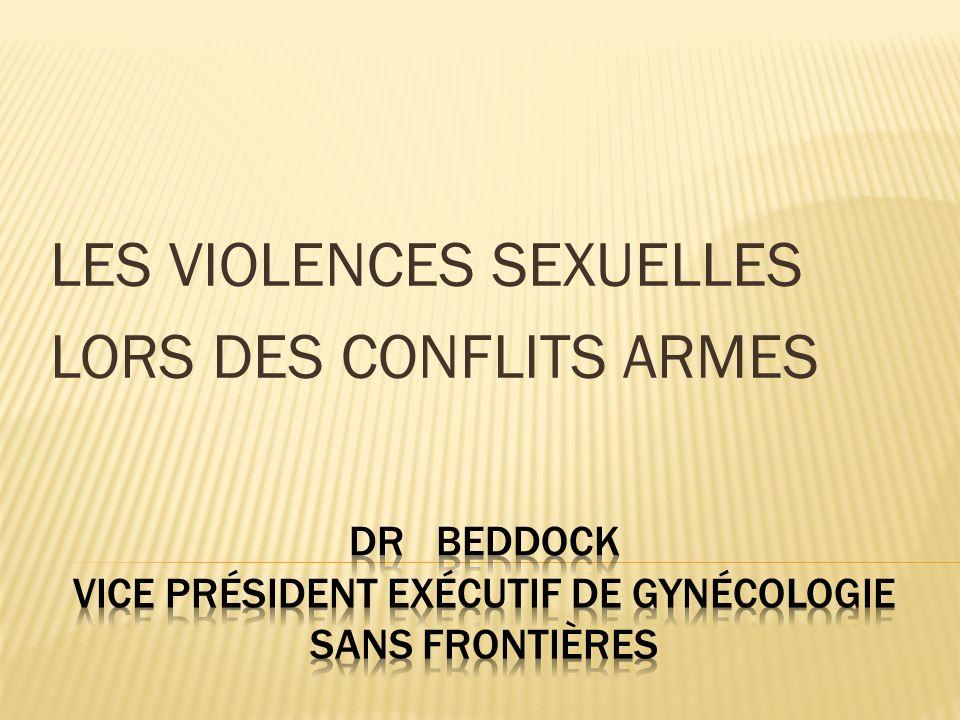 LES VIOLENCES SEXUELLES LORS DES CONFLITS ARMES