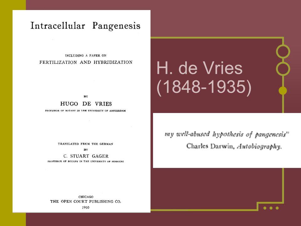 H. de Vries (1848-1935)
