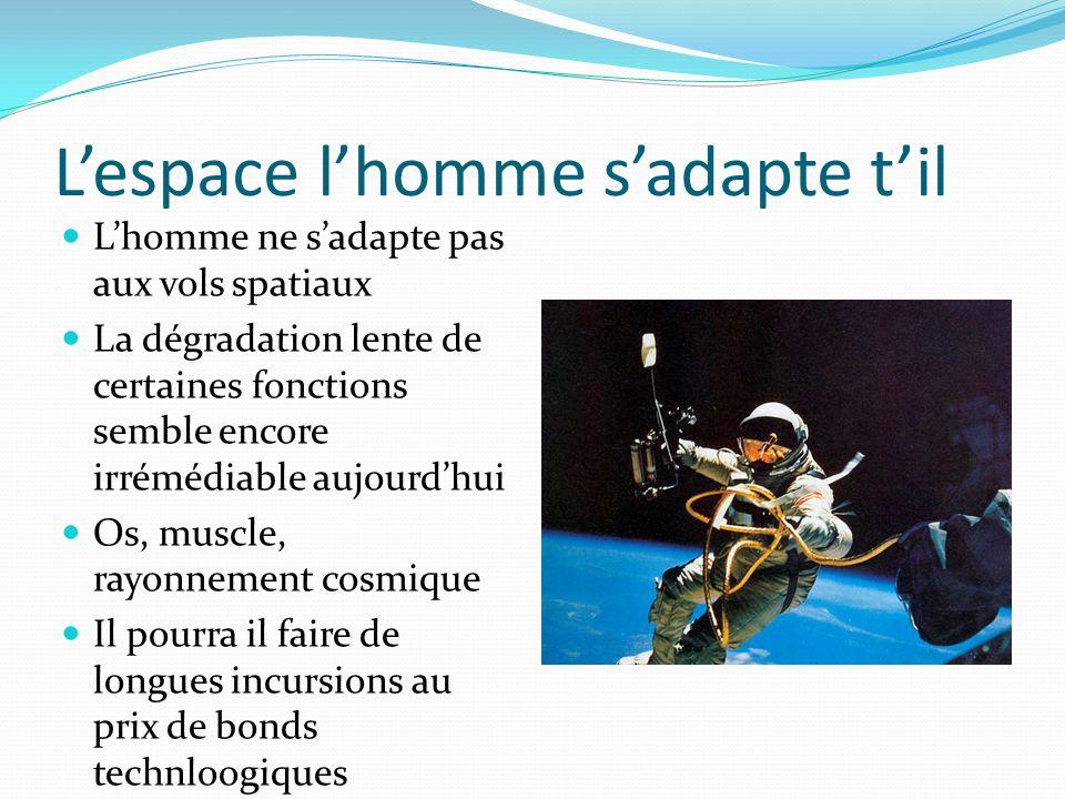 Lespace lhomme sadapte til Lhomme ne sadapte pas aux vols spatiaux La dégradation lente de certaines fonctions semble encore irrémédiable aujourdhui O