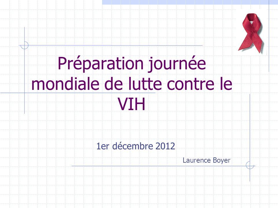 Préparation journée mondiale de lutte contre le VIH 1er décembre 2012 Laurence Boyer