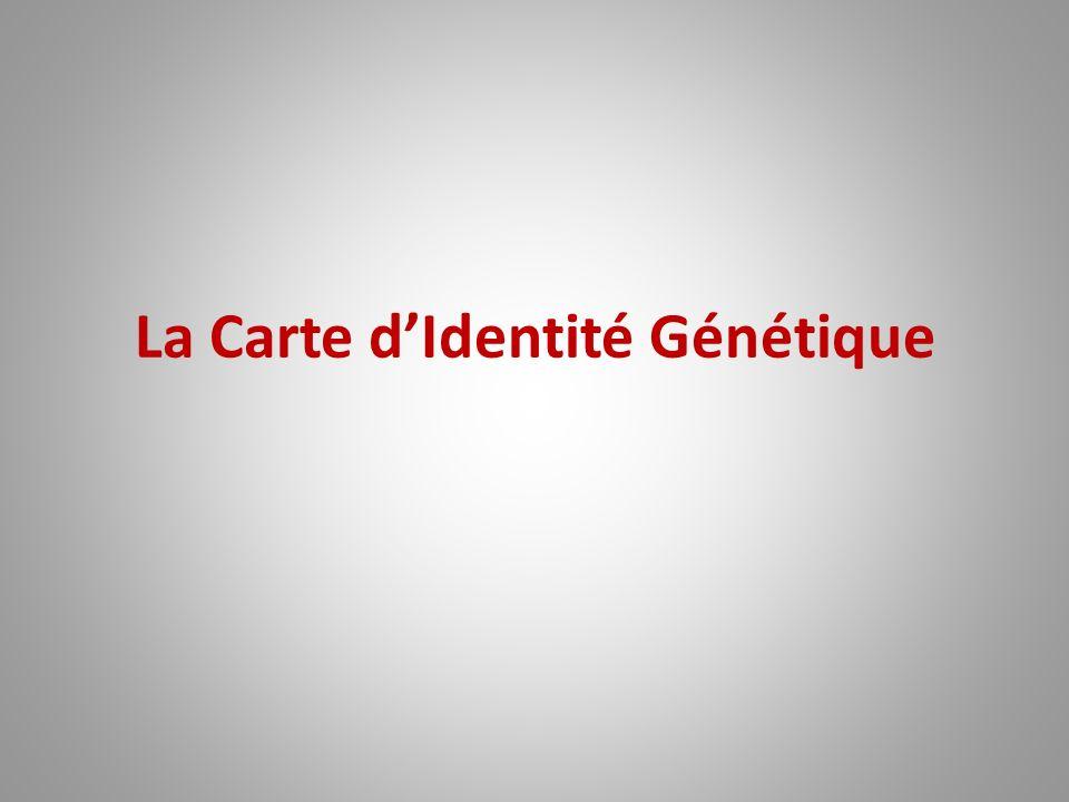 La Carte dIdentité Génétique