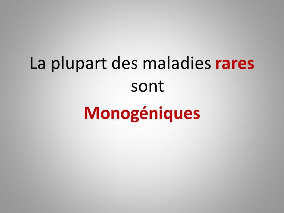 La plupart des maladies rares sont Monogéniques