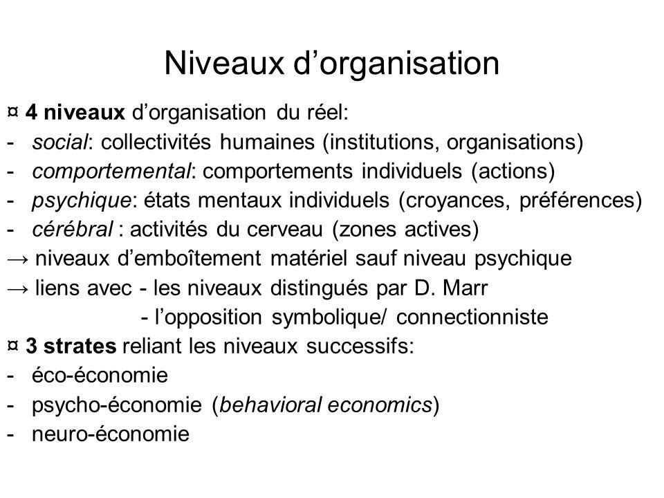 Concepts de base ¤ typologies souvent grossières: -actions : informationnelles, opérationnelles, ….