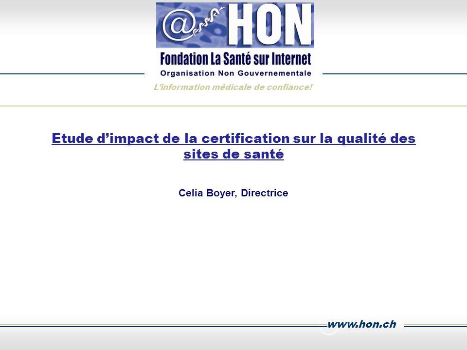 www.hon.ch Linformation médicale de confiance.