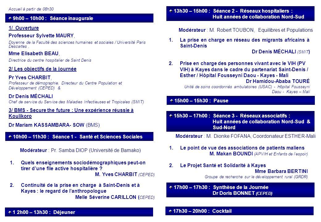 9h00 – 10h00 : Séance inaugurale 1/ Ouverture Professeur Sylvette MAURY, Doyenne de la Faculté des sciences humaines et sociales / Université Paris De