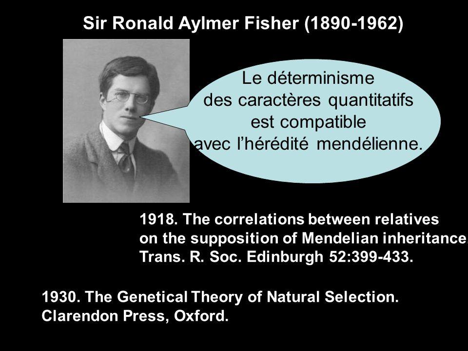 Hermann Joseph MULLER (1890-1967) La séxualité favorise la recombinaison génétique, source de variations pour lévolution.