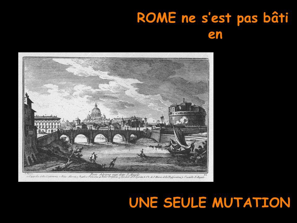ROME ne sest pas bâti en UNE SEULE MUTATION