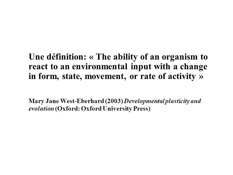 Un phénomène actif ou passif.Adaptatif ou non-adaptatif Continu ou discontinu.