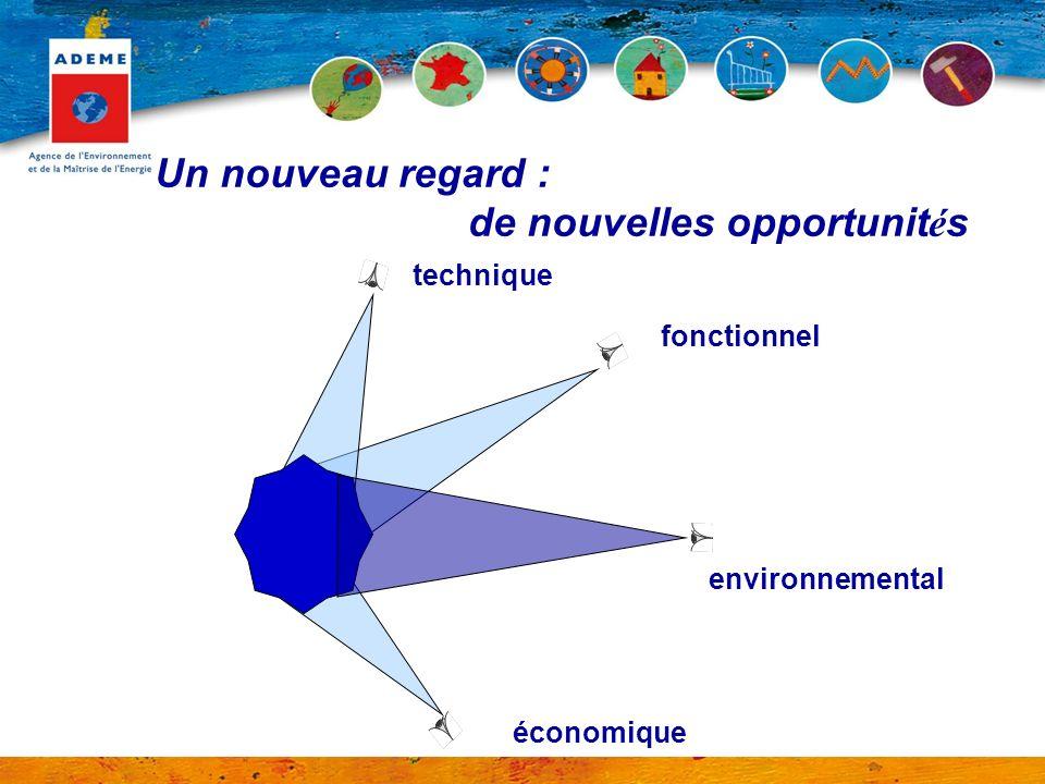 Un nouveau regard : de nouvelles opportunit é s technique économique fonctionnel environnemental