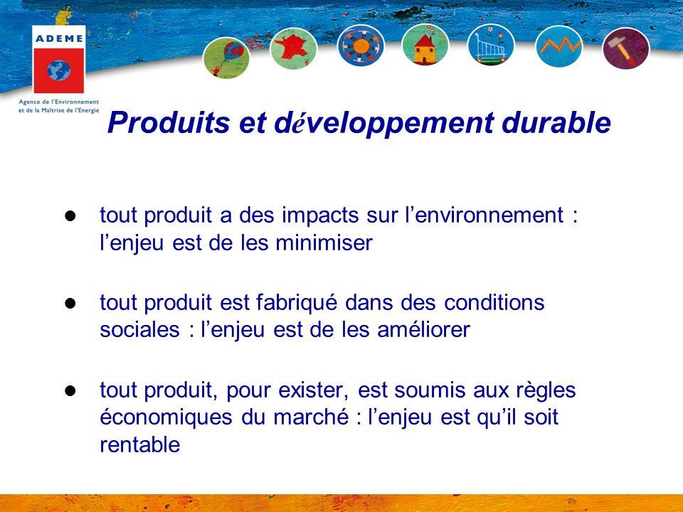 Produits et d é veloppement durable tout produit a des impacts sur lenvironnement : lenjeu est de les minimiser tout produit est fabriqué dans des con