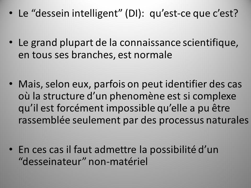 Le dessein intelligent (DI): quest-ce que cest.