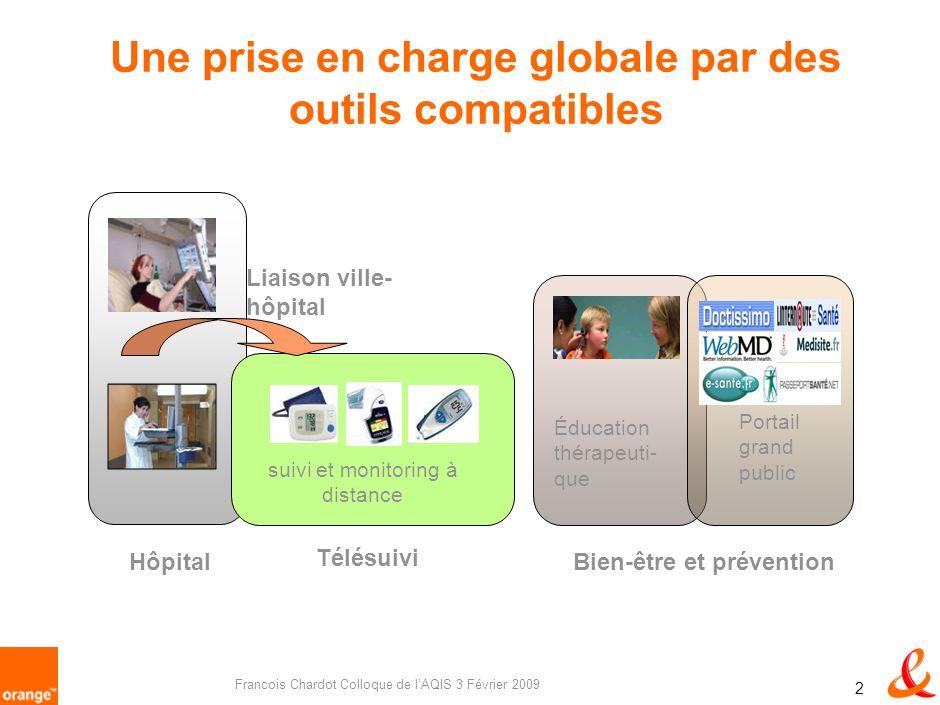 Francois Chardot Colloque de lAQIS 3 Février 2009 1 Les grands défis sont les mêmes 1 25% pop > 60 dici 2010 en Europe 20 millions de personnes dépend