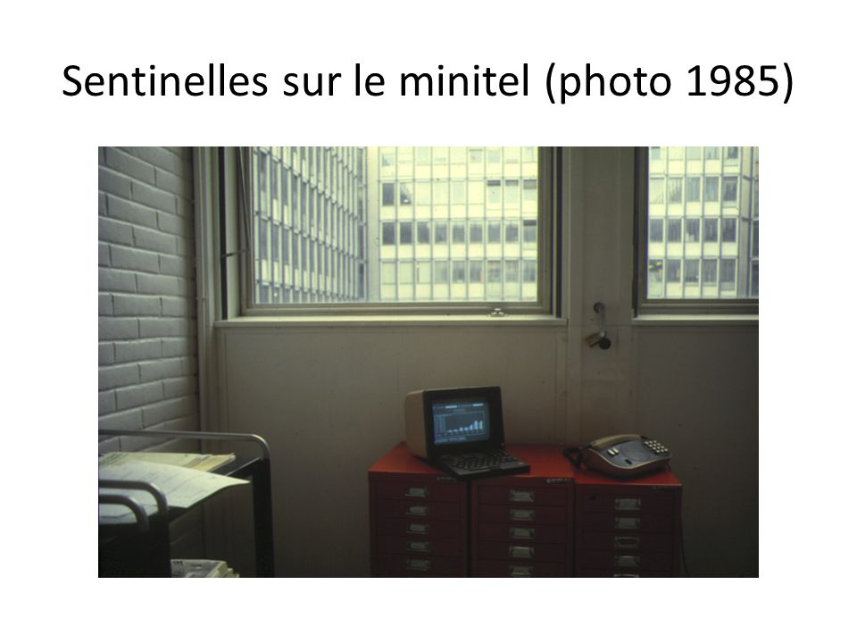 Sentinelles sur le minitel (photo 1985)