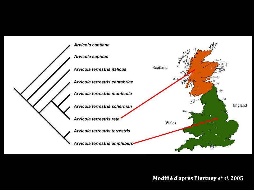 Modifié daprès Piertney et al. 2005