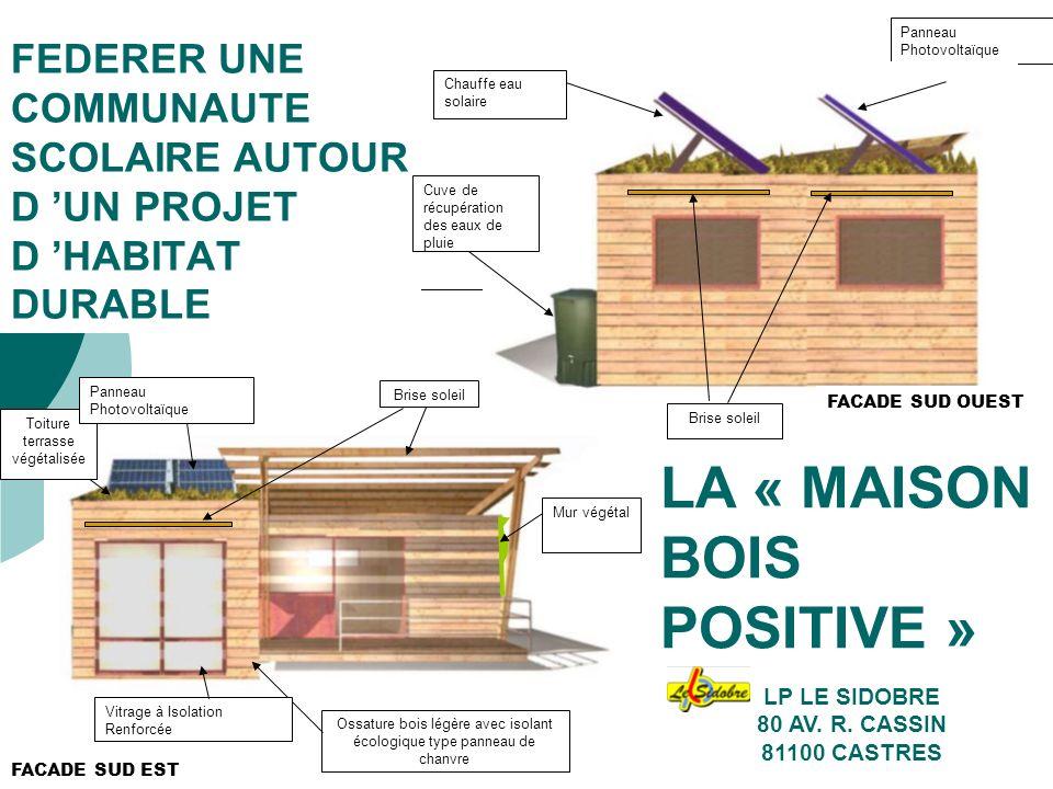 JMD juin 201012 PROJET DE REALISATION DE LA MAISON BOIS POSITIVE Fabrication et Implantation par les élèves de BAC.