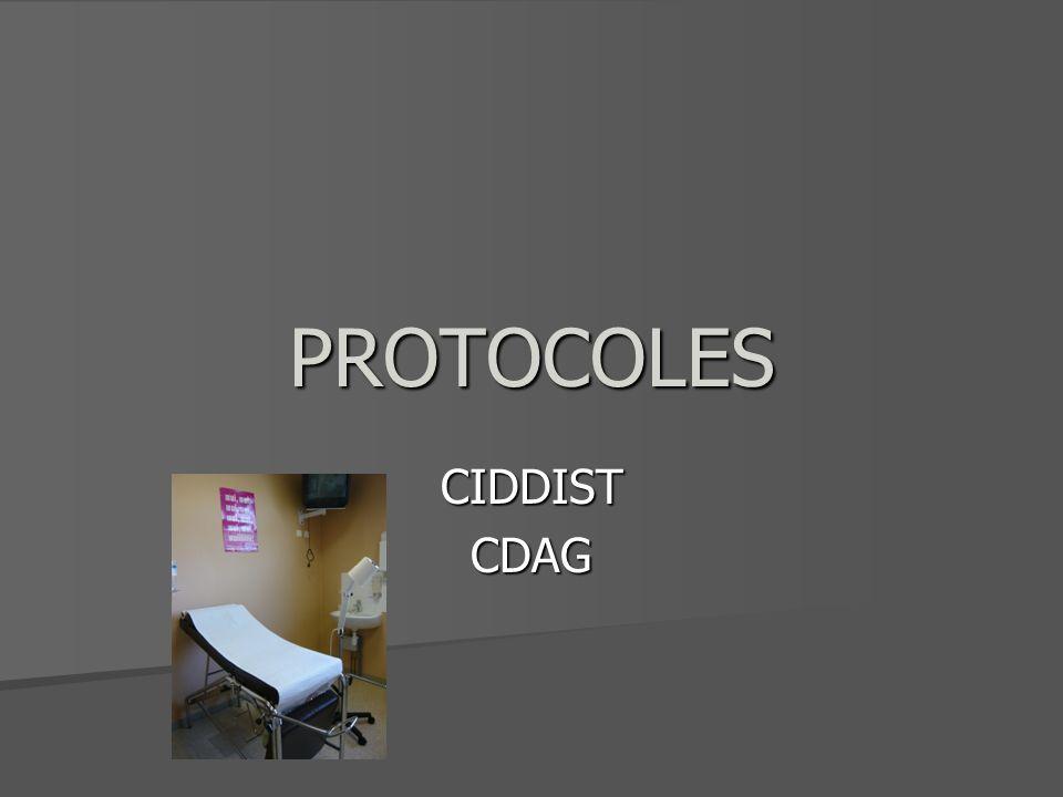 PROTOCOLES CIDDISTCDAG