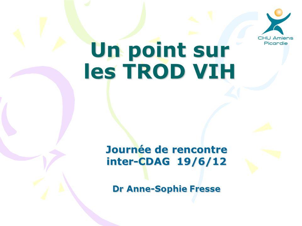 Un point sur les TROD VIH Journée de rencontre inter-CDAG 19/6/12 Dr Anne-Sophie Fresse