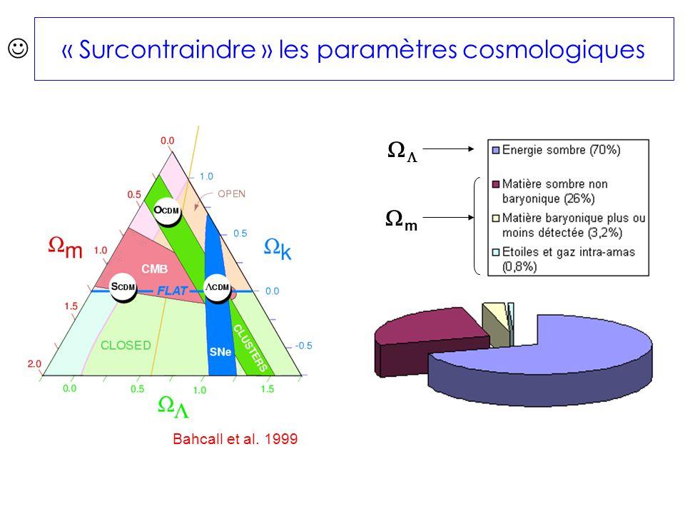 « Surcontraindre » les paramètres cosmologiques Bahcall et al. 1999 m