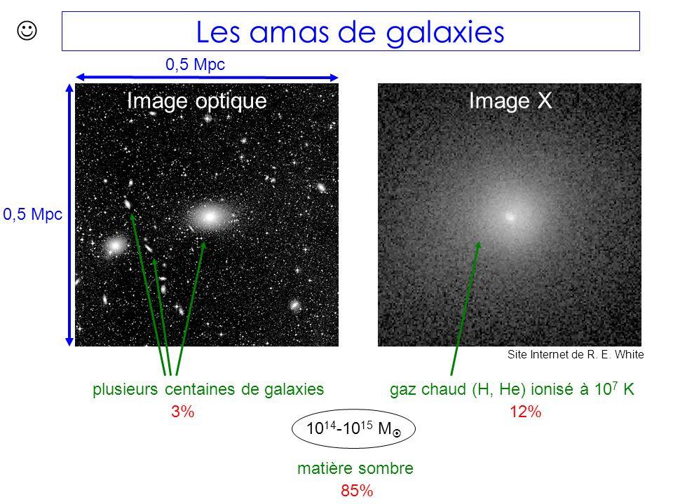 Image optique Les amas de galaxies 0,5 Mpc Image X Site Internet de R.