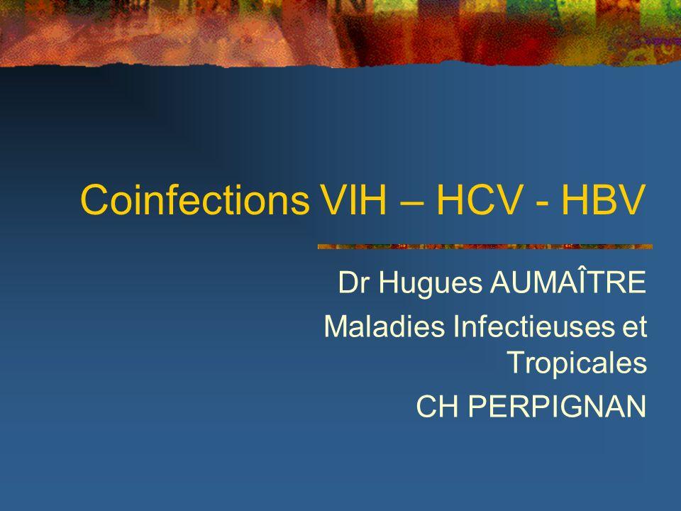 Coinfections VIH – HCV - HBV Dr Hugues AUMAÎTRE Maladies Infectieuses et Tropicales CH PERPIGNAN