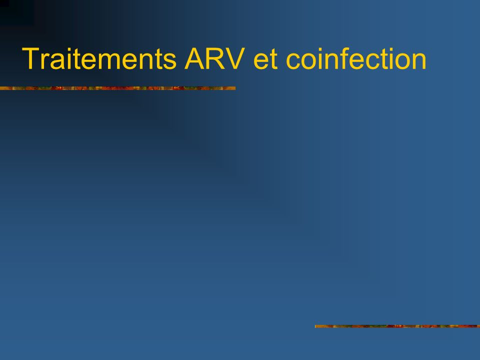Traitements ARV et coinfection