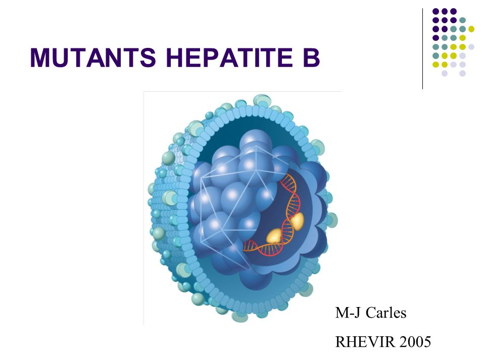 MUTANTS HEPATITE B M-J Carles RHEVIR 2005