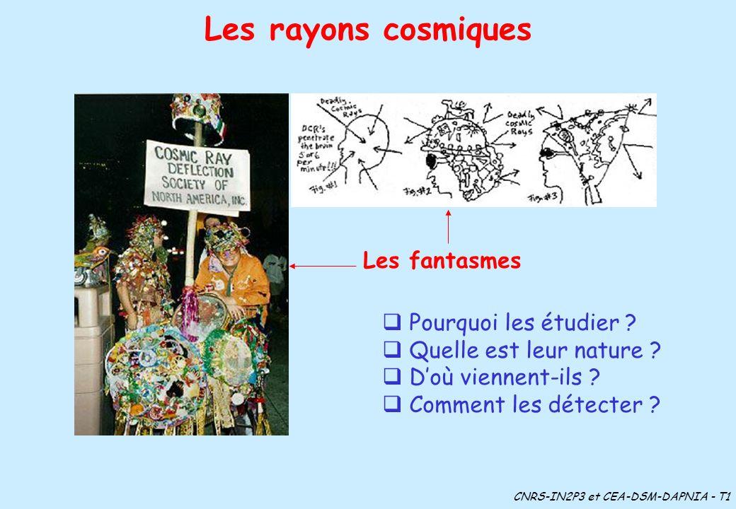 Les fantasmes Pourquoi les étudier ? Quelle est leur nature ? Doù viennent-ils ? Comment les détecter ? Les rayons cosmiques CNRS-IN2P3 et CEA-DSM-DAP