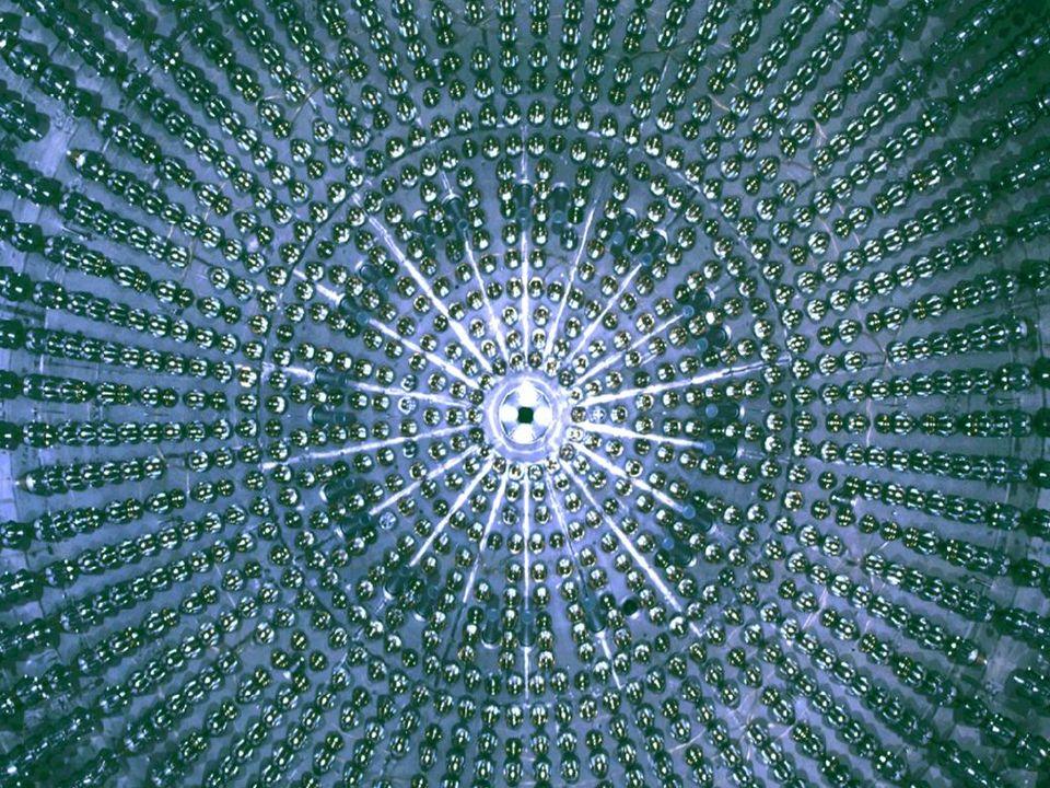 La Sphère de Borexino La sphère intérieure dans Borexino est tapissée avec 2200 Photomultiplicateurs.