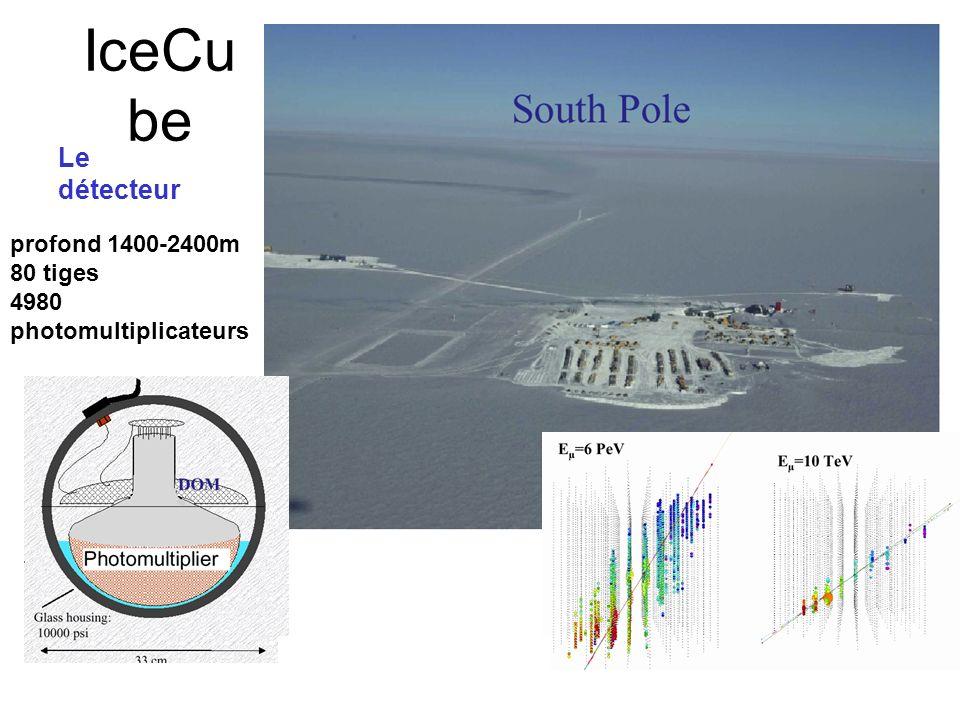 Neutrino Astrophysique IceCube Km 3 Détecteur 250Meuros Neutrinos de très hautes énergies