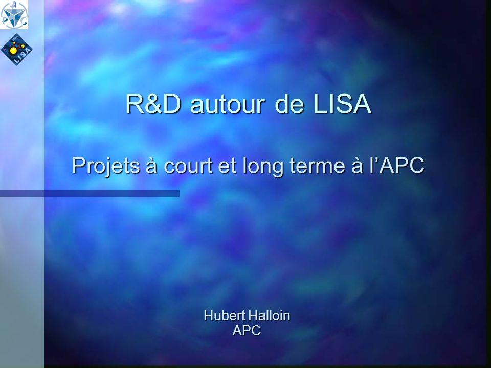 R&D autour de LISA Projets à court et long terme à lAPC Hubert Halloin APC