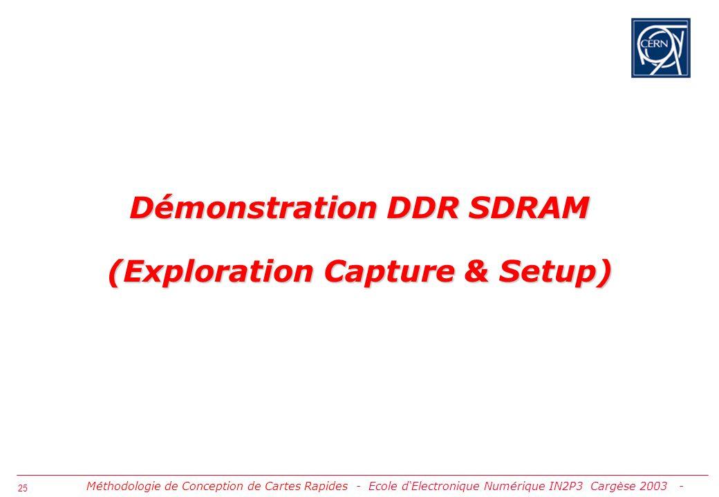 26 [ Tache A ] Capture du Schéma Concept-HDL Méthodologie de Conception de Cartes Rapides - Démo DDR SDRAM (Exploration Capture & Setup) -