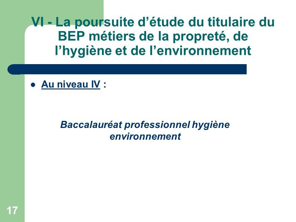 18 VII – Règlement dexamen Epreuves dexamen du domaine professionnel EP1 : Techniques professionnelles EP2 : Sciences appliquées - Prévention et traitements des biocontaminations EP3 : Analyse dune situation professionnelle