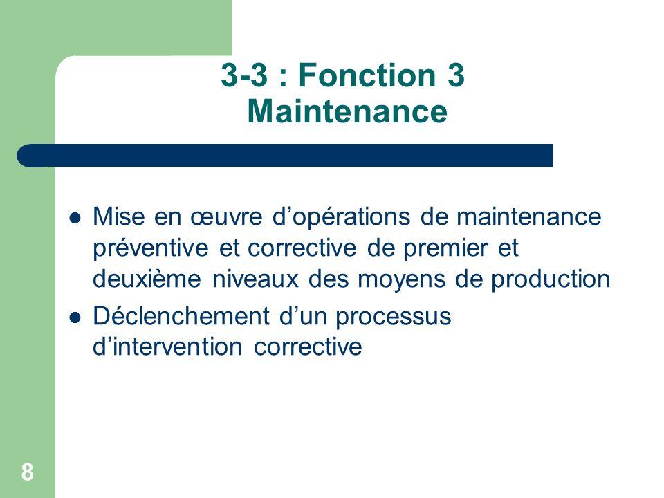 9 3-4 : Fonction 4 Participation à la gestion de la qualité Enregistrements techniques liés à la mise en œuvre de lassurance qualité Contrôles de la qualité des prestations Traitement des prestations non conformes dans la limite de ses compétences