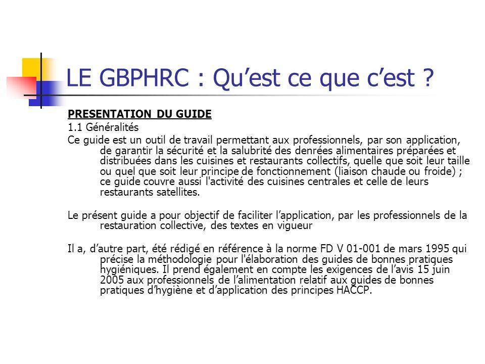 LE GBPHRC : Quest ce que cest .