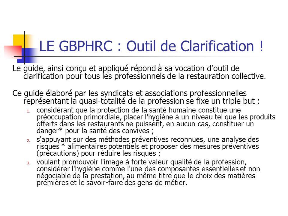 LE GBPHRC : Outil de Clarification .