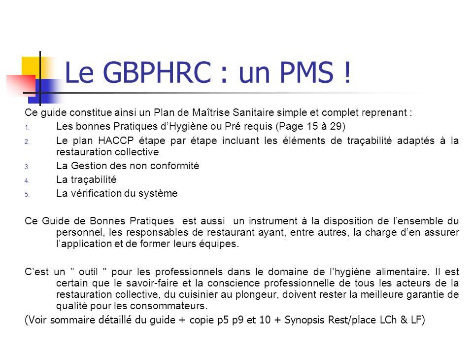 Le GBPHRC : un PMS .
