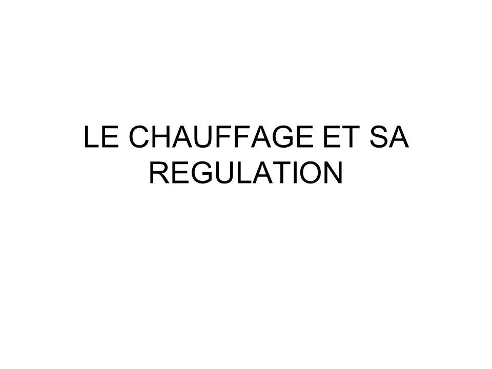LE CHAUFFAGE ET SA REGULATION