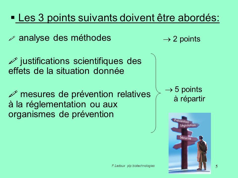 5 analyse des méthodes justifications scientifiques des effets de la situation donnée mesures de prévention relatives à la réglementation ou aux organ
