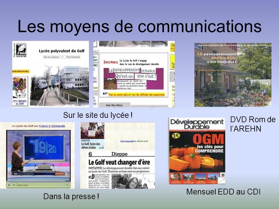 Les moyens de communications Sur le site du lycée .