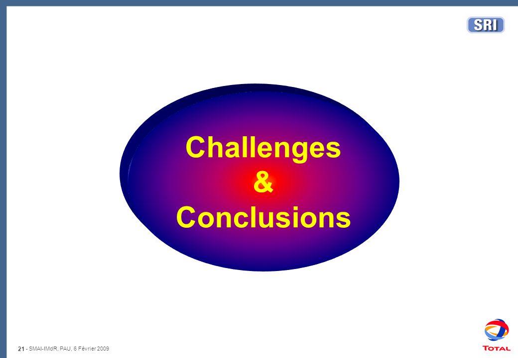 21 - SMAI-IMdR, PAU, 6 Février 2009 Challenges & Conclusions