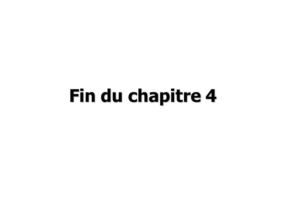 Fin du chapitre 4