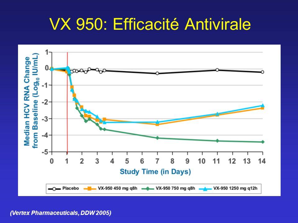 VX 950: Efficacité Antivirale (Vertex Pharmaceuticals, DDW 2005)